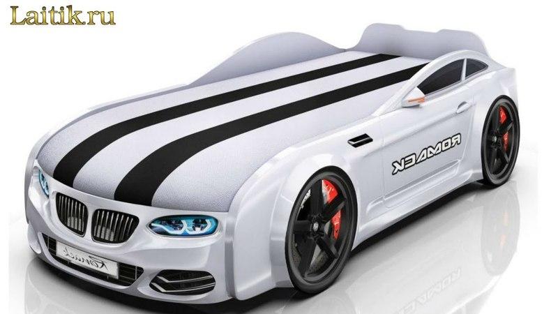 Детская кровать машина Romack Real - BMW с матрасом. Мебель. Интернет-магазин Лайтик