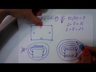 Как вязать Росток крючком Реглан сверху Кокетка квадратная Школа МК