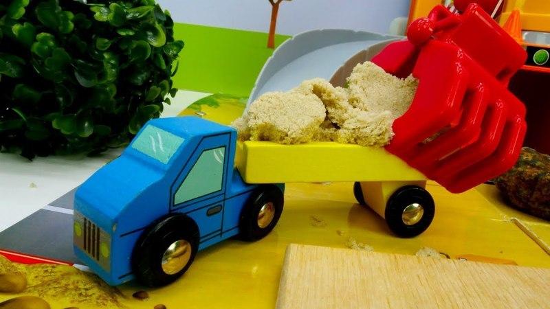 Vehículos de servicio en la construcción. Coches para niños.