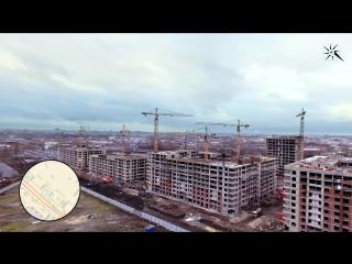 Участок строительства ЖК «ARTквартал.Аквилон». Аэросъемка, ноябрь 2017 года