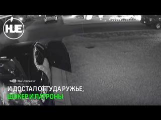 Во Флориде дерзкий воришка вынес из полицейской тачки бронежилет, винтовку, шокер и патроны