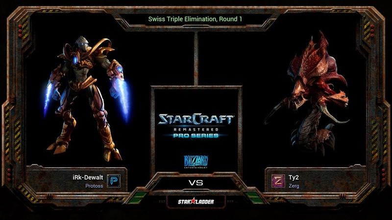 SC:Remastered Pro Series Main Stage Round 1 Match : iRk-Dewalt (P) vs Ty2 (Z)