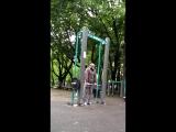 Решил я сегодняшнюю тренировочку провести в старом добром парке на Соколе.Рад был вновь встретить там ребят @monstazz_athletic.