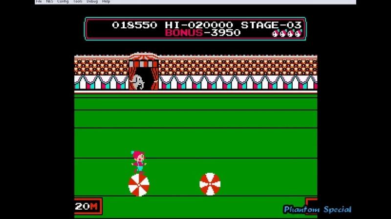 Circus Charlie (Gameplay DENDY)