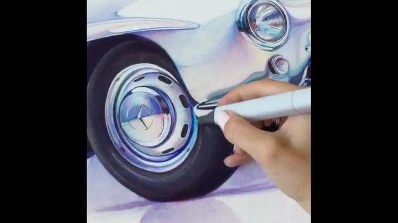 Рисуем MercedesBenz 300SL Gullwing