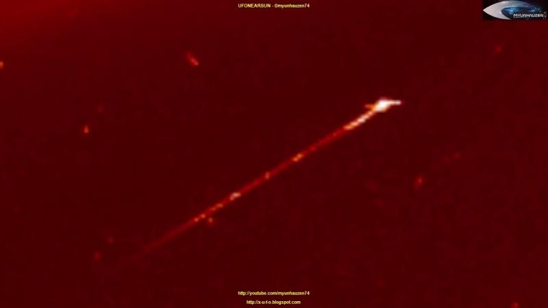 UFOs on NASA SOHO LASCO C2 satellite images - July 9, 2018 (НЛО возле Солнца)