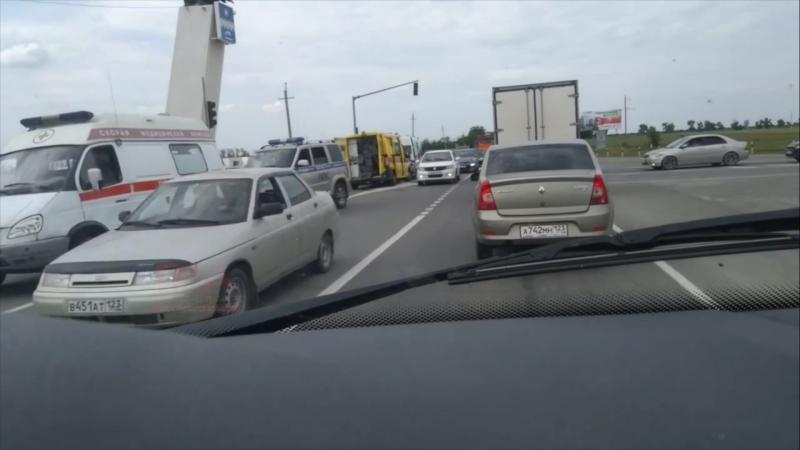 Авария на повороте на аэропорт