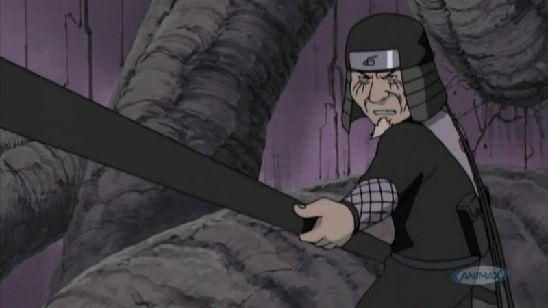Хирузен Энма против Орочимару Хаширамы Тобирамы Ацуши Вакабаяши 18 февраля 2004 эпизод 71 ANIMAX HD