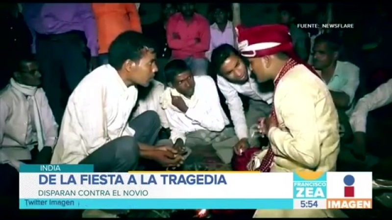 ¡Boda trágica en India! Un invitado disparó para festejar y mató al novio Francisco Zea.mp4