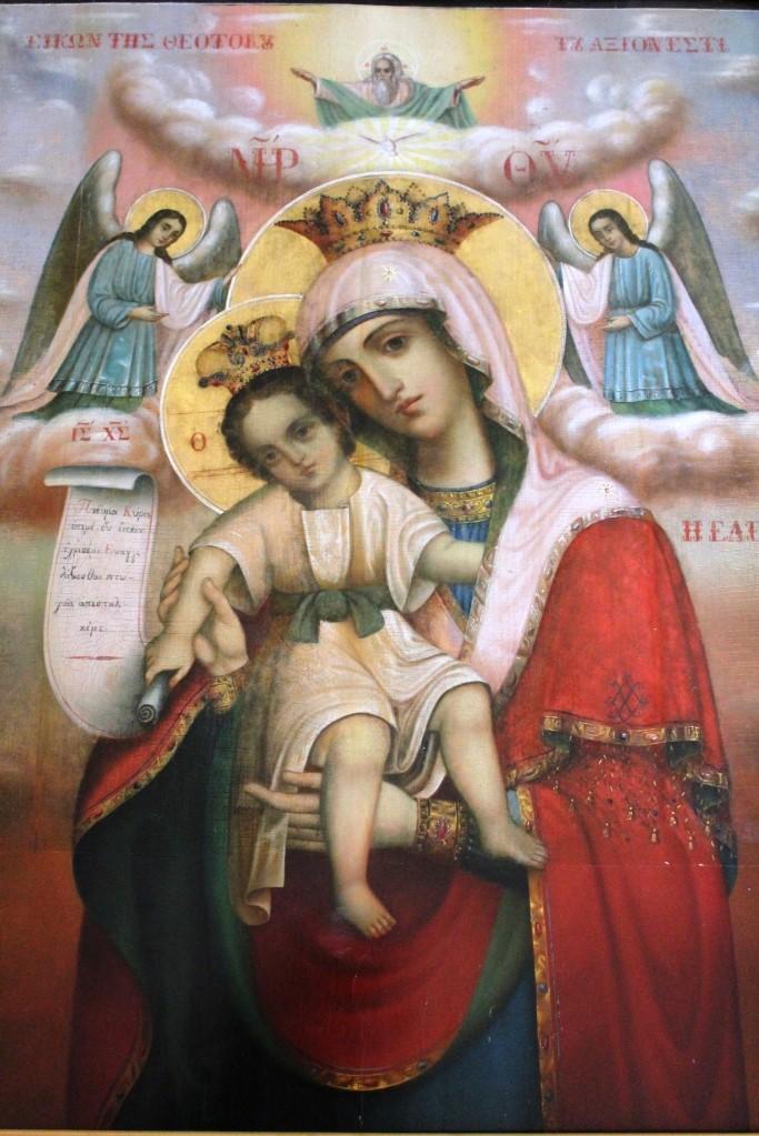 Ночное богослужение в монастыре и перенесение иконы Божией Матери Достойно есть