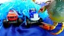 Blaze e Monster Machines fazem uma corrida no fundo do mar.