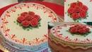 украшение тортов видео урок 1020 how to make buttercream icing cake || beautiful cake decorating || cakelover