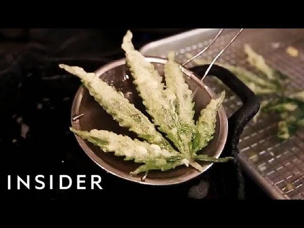 We Tried Deep-Fried Marijuana Leaves