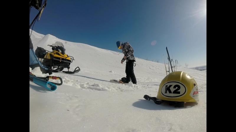 Ледово-снежные занятия на Заячьем ручье, горы Хараелах, клуб туристов Таймыр