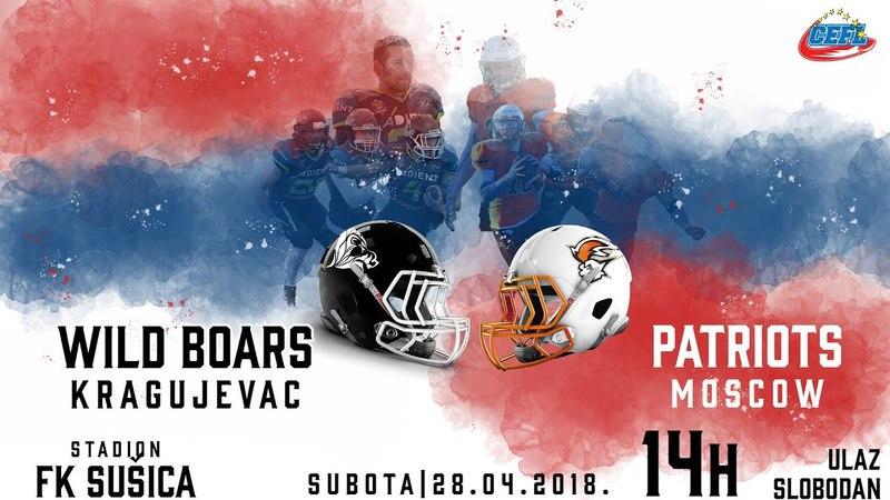 CEFL 2018: Kragujevac Wild Boars 34 - 20 Moscow Patriots