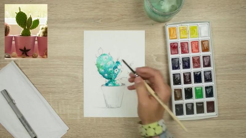 Бесплатный курс по скетчингу - Учимся рисовать растения
