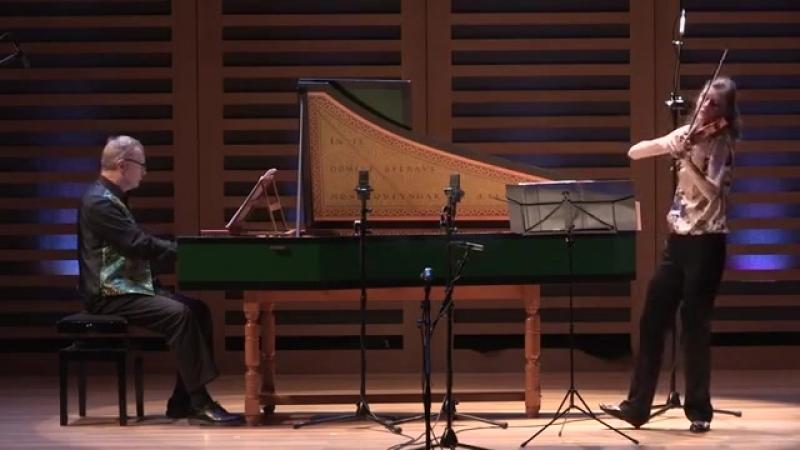 1021 J. S. Bach - Violin Sonata in G major, BWV 1021 - Penelope Spencer David Roblou