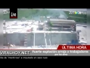 Fuerte explosión arroja a trabajadores por los aires