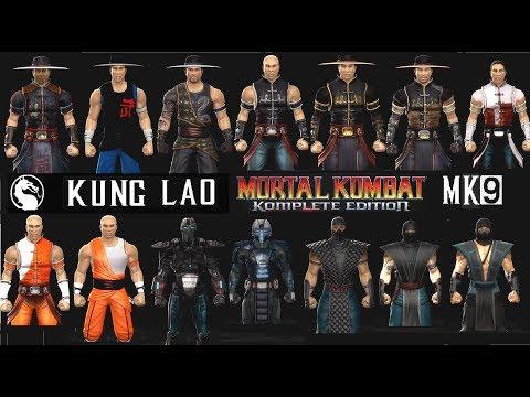Mortal Kombat ALL KUNG LAO MK Costume Skin PC Mod MK9 Komplete Edition MKKE HD