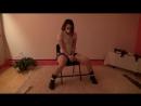 schoolgirl chairtied