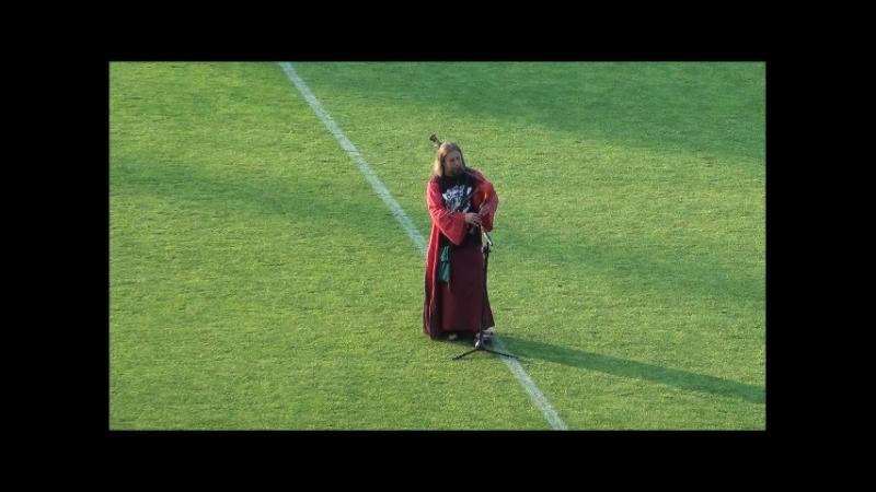 Alex Clover of FRAM - Звезда по имени волынка на гомельском стадионе