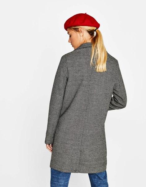 Шерстяное пальто в мужском стиле