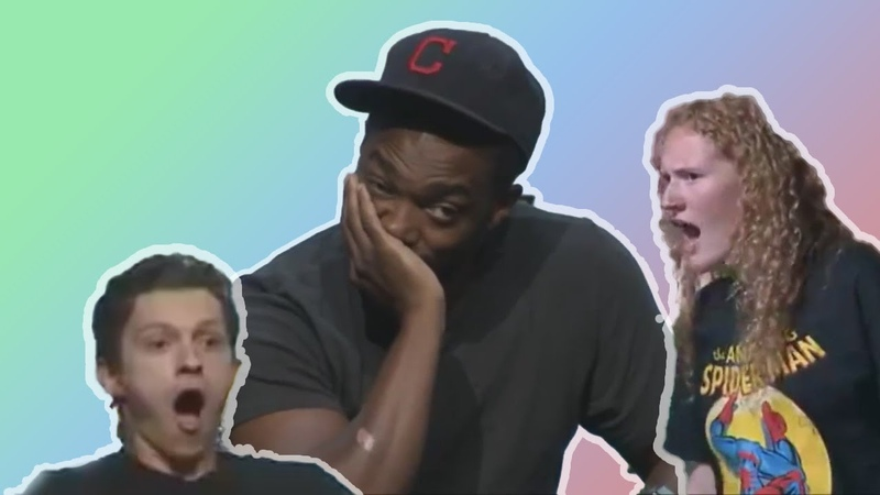 ANTHONY MACKIE BEING ROASTED AND ROASTING TOM HOLLAND'S FANS AT THE ACE CON