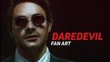 Matt Murdock (Daredevil) SpeedPaint by Anforumeru