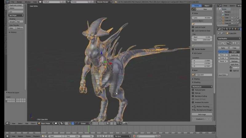 [HOKIROYA I Digital Art] Creature Creation - Modeling, Sculpting, Texturing, Rigging (BLENDER TIMELAPSE)