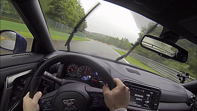 2017 Nissan GT-R First Drive - lapping Spa Francorchamps in torrential conditions