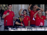 The Belgium Team celebrating their 3rd place with some Techno