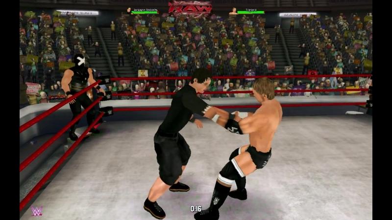 Джексон Робертс и Стив Остин против Triple H и Мистера Икс