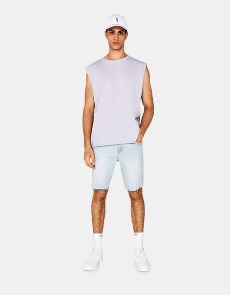 Джинсовые шорты комфортного облегающего кроя