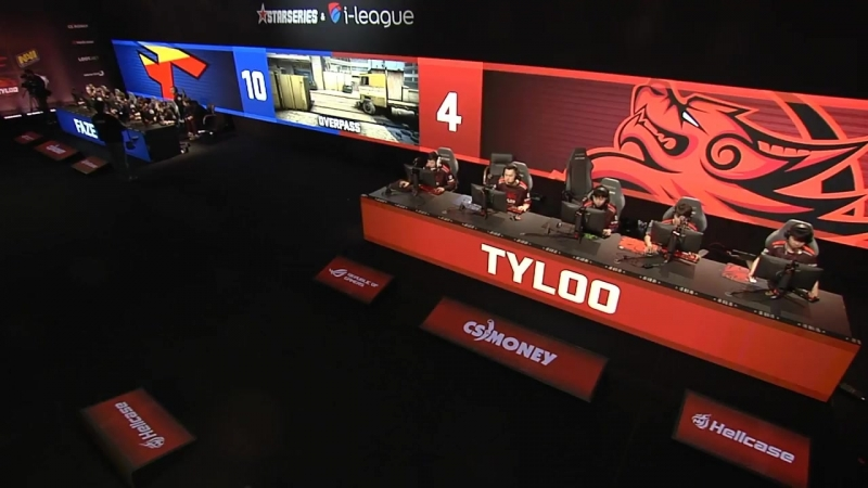 [CS:GO StarLadder] FaZe vs TyLoo, map 2 overpass, StarSeries i-League Season 4 Finals
