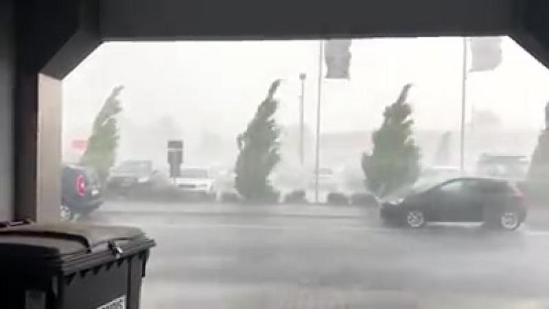 Büdingen - Sturmböen, Hagel und extrem heftiger Starkregen