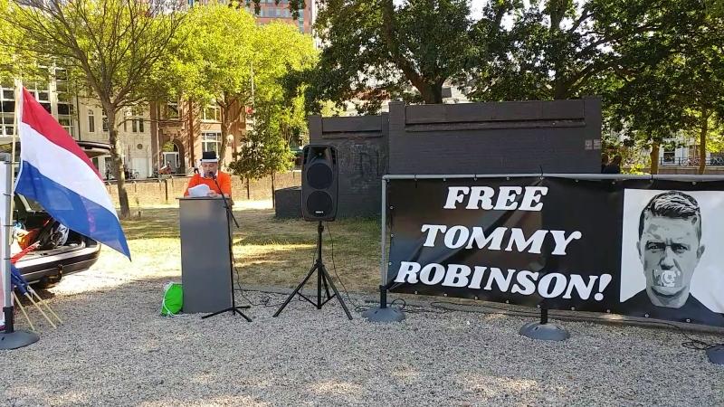 Toespr. Demo Tommy R. in Den Haag 140718 (150718)