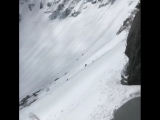 Fall while skiing Tuckerman Ravine