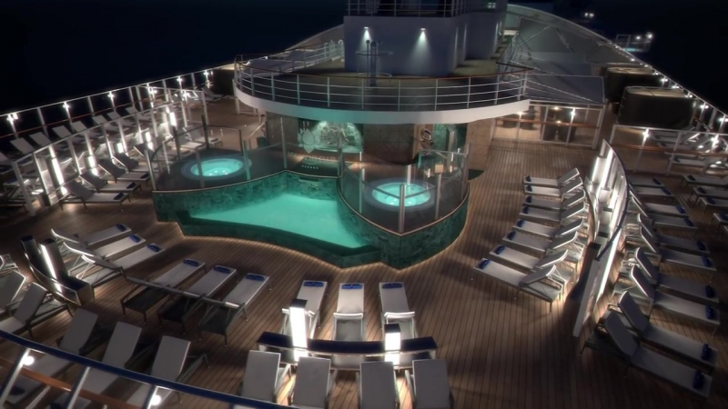 MSC Seaside - MSC Yacht Club Sundeck and pool.