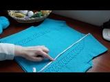 Платье крючком (голубое). Часть 5. Прибавления, убавления петель