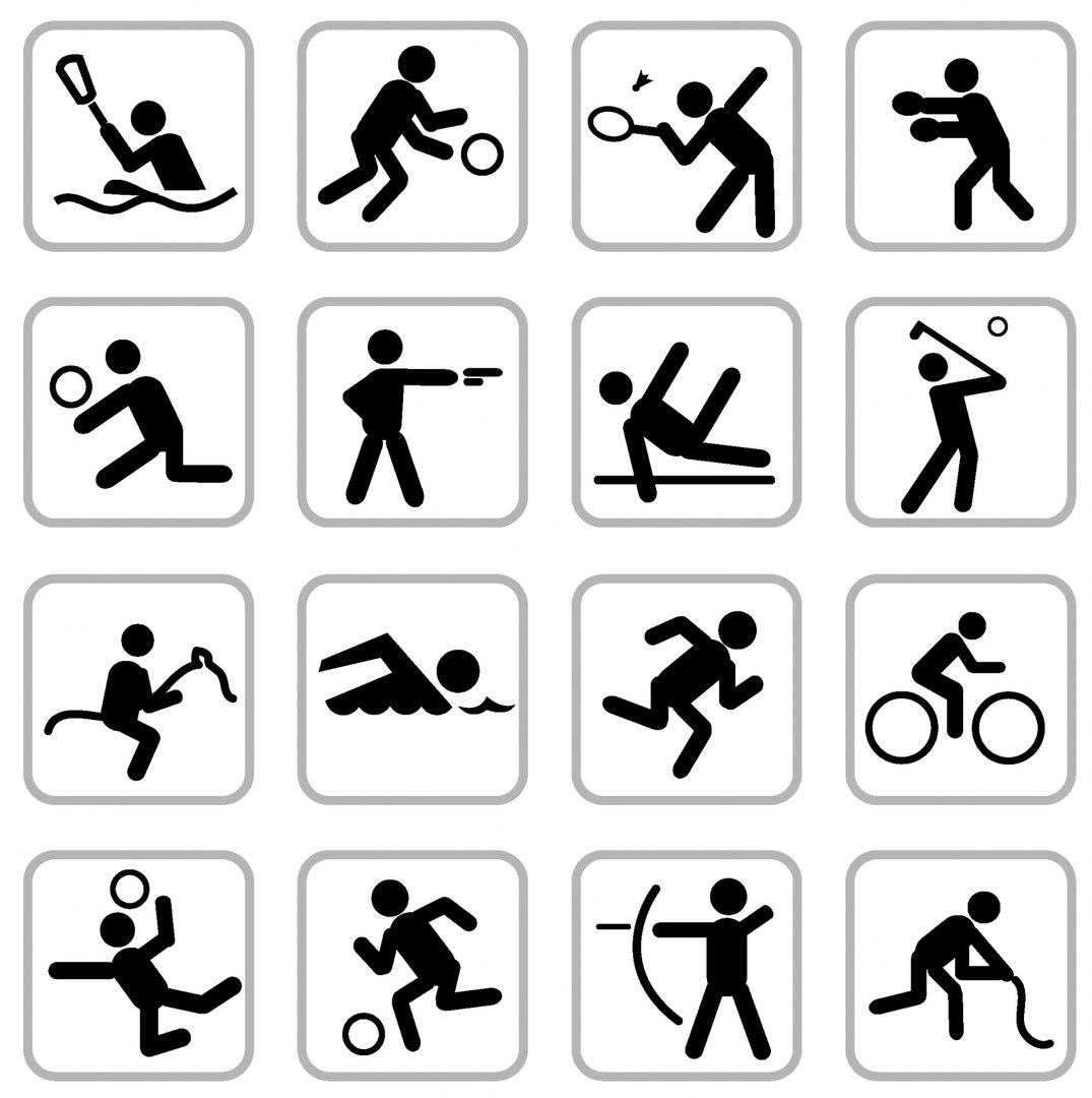 Эмблемы видов спорта в картинках для детей, для физрука своими