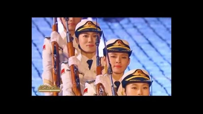 Шоу Китайских девушек из роты почётного караула.Клип HD