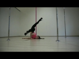 Pole Exotic tricks at Kats pole dance studio