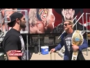 EXCLUSIVE Things just got HEATED as ICChampion @HEELZiggler arrived at RAW to see @MikeRomeWWE interviewing @WWERollins