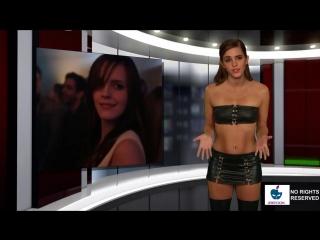 Голая Эмма Уотсон (Гермиона) ведет новости!