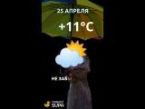 25 апреля погода