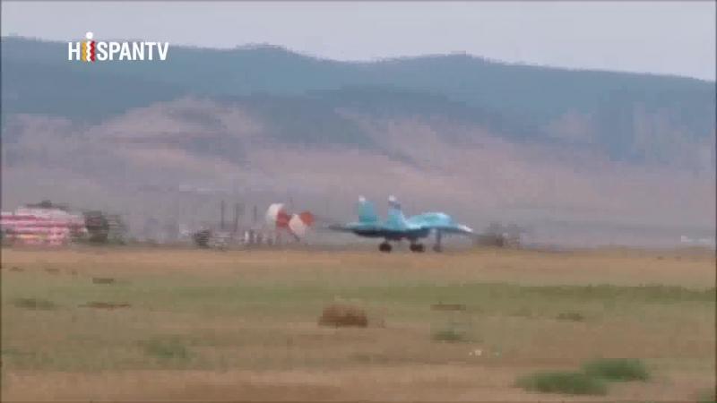 Avión ruso Su-34 bombardea buque con misiles Kh-31