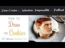 Painting of Tom Cruise on Cookies | Art Decorating Royal Icing | How to draw | SweetPoppyArt EP43