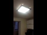 Кухонный светильник (50см на 50см)Е27 цоколь 4 лампы.Стекло/металл основание натуральное дерево .Цвет  черный мат /коричнев./вен