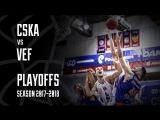 Best Plays From CSKA vs VEF #VTBPlayoffs