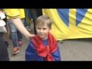 Парад шведских фанатов в Санкт-Петербурге